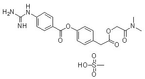 Camostat Mesilate Chemical Structure