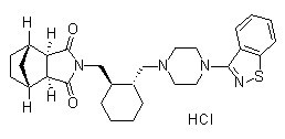 Lurasidone HCl Chemical Structure