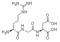RGD (Arg-Gly-Asp) Peptides Chemical Structure
